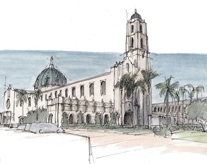 UNIVERSITY of SAN DIEGO - Architecture, California, Spanish Renaissance, Steeple, Tower, College, Campus, Quad, Masterplan, Drawn There