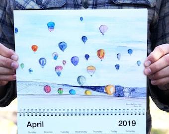 Drawn There 2019 Calendar