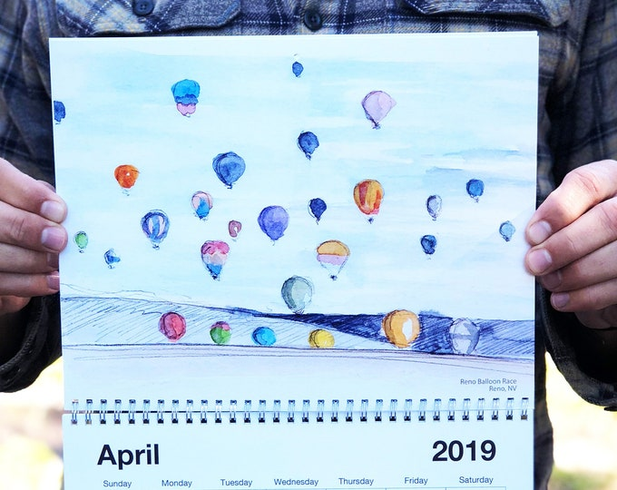 Featured listing image: Drawn There 2019 Calendar