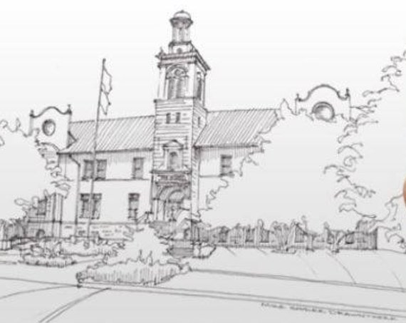 SCHOOL OF MINES in Golden Colorado - College, Geology, Architecture, Drawing, Pen and Ink, Sketchbook, Art, Print, Drawn There
