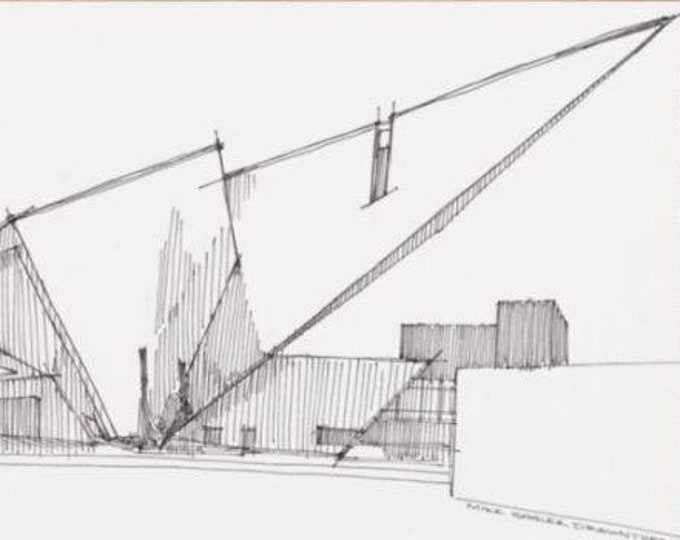 DENVER ART MUSEUM - Architecture, Colorado, Design, Libeskind, Modern Design, Drawing, Pen and Ink, Sketchbook, Drawn There