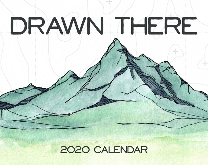 Featured listing image: Drawn There 2020 Calendar
