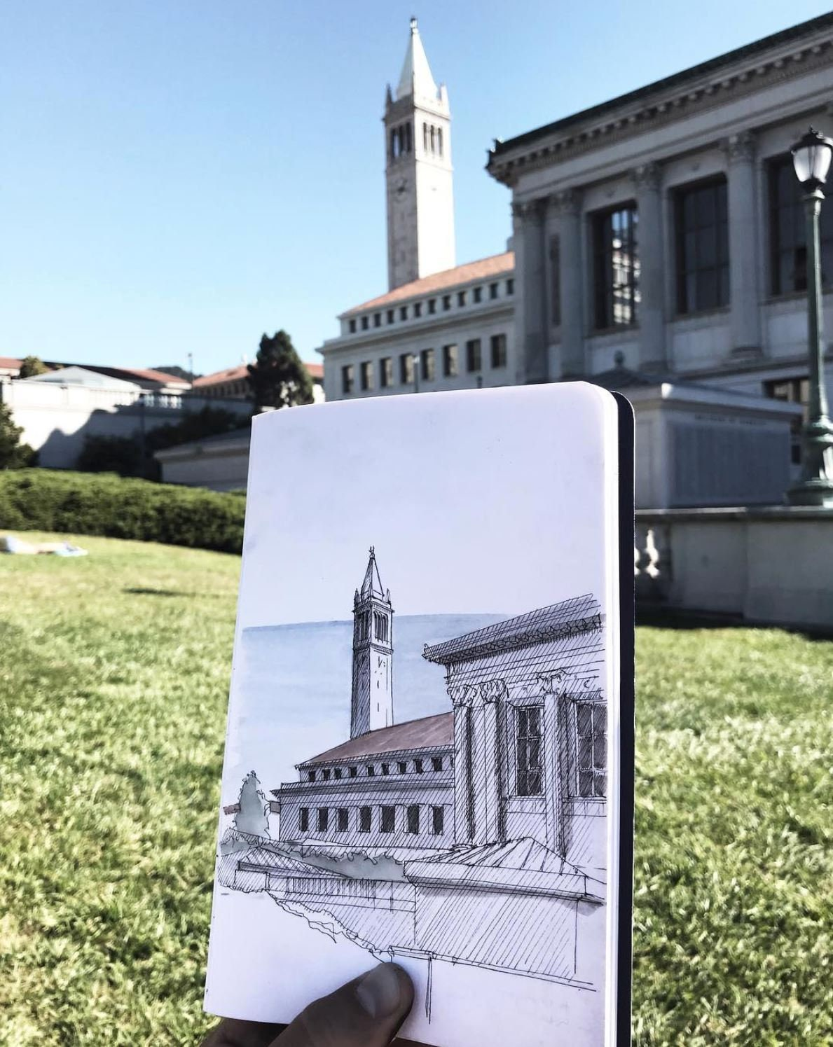 UC BERKELEY Sather Tower - Ink and Watercolor, Art Prints, Drawing,  Architecture, Painting, Bell Tower, Architecture, Italian Renaissance