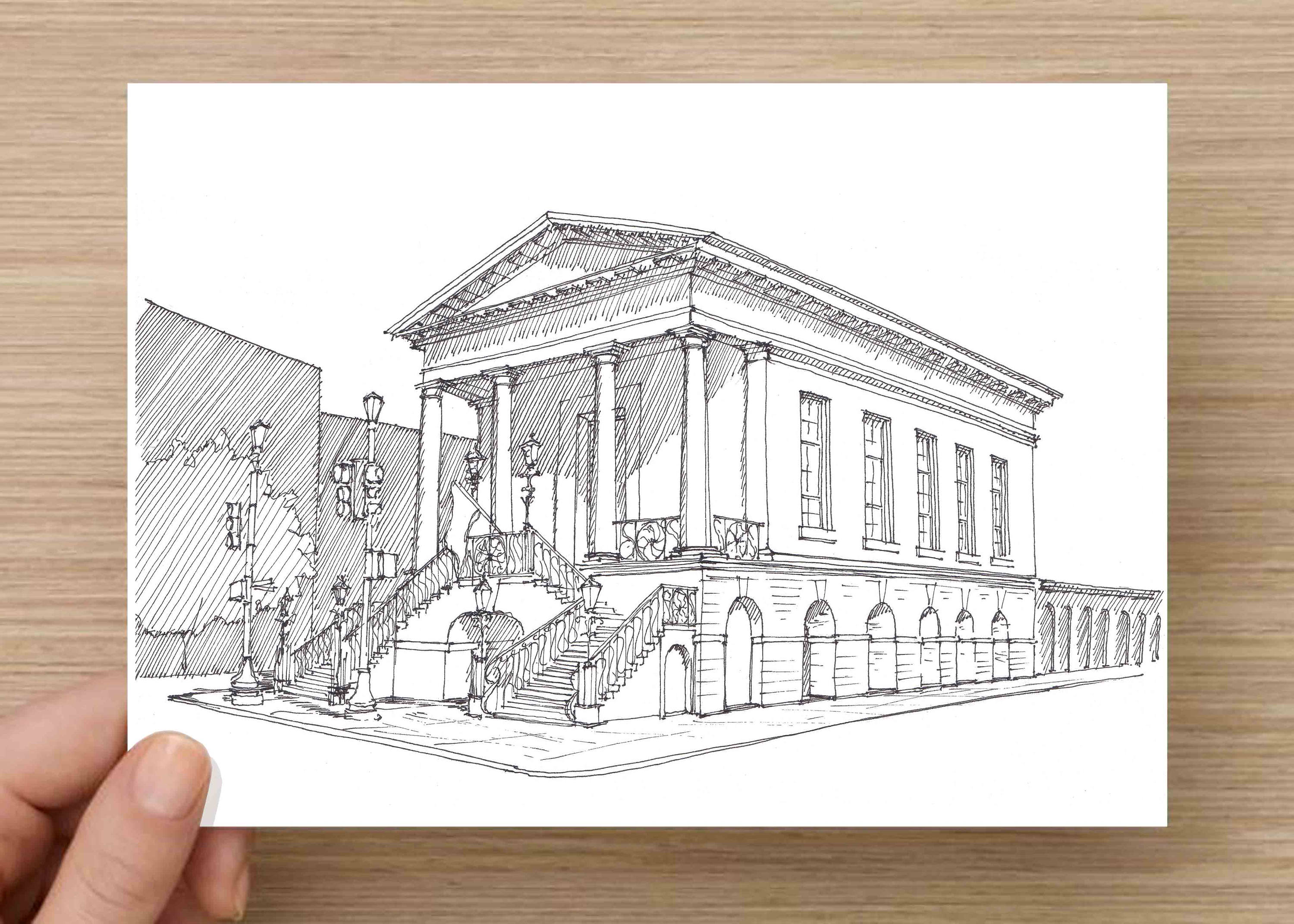 Ink Drawing of the iconic City Market in Charleston South | Etsy