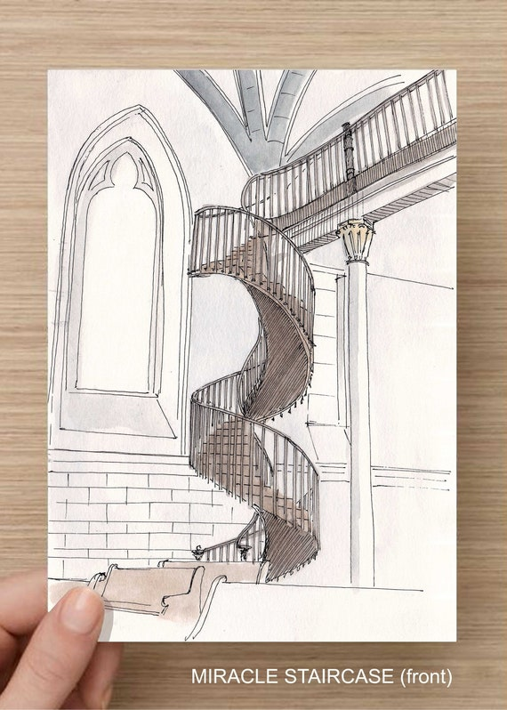 Miraculous Staircase In Loretto Chapel Santa Fe New Mexico Etsy