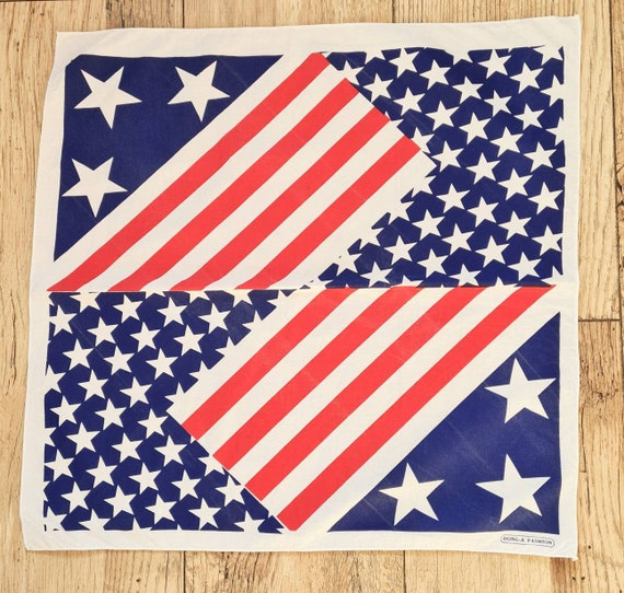Vintage stars and stripes cotton bandana | wrist w