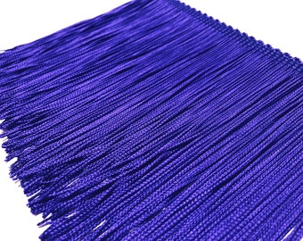 Home Decor Silky Rayon Made in USA Trim for Dancewear Fringe Performance Competition Costume Dance Navy Blue Chainette Cut Fringe