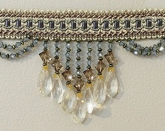 beaded fringe by the yard br 126