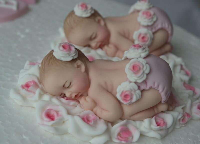 edible twin baby girls christening baptism cake decoration etsy