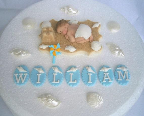 Essbare Personalisierte Babys 1 Geburtstag Kuchen Topper Etsy