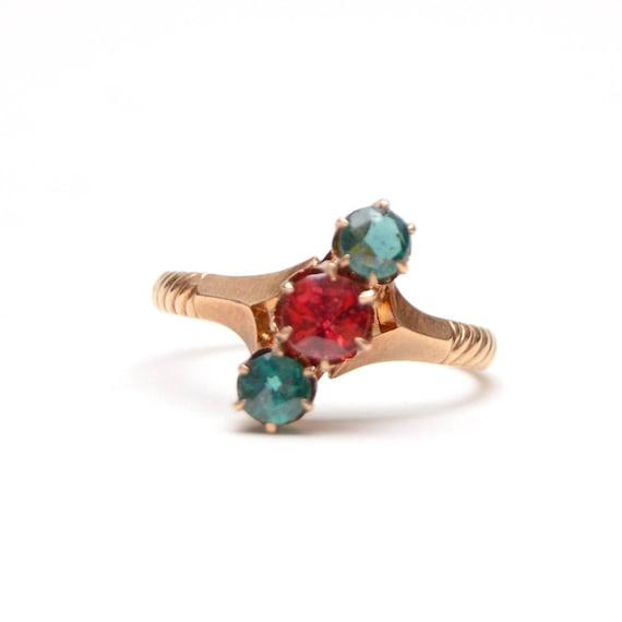 "10k Victorian Garnet ""Christmas"" Ring"