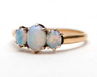 Fiery Victorian Opal Ring