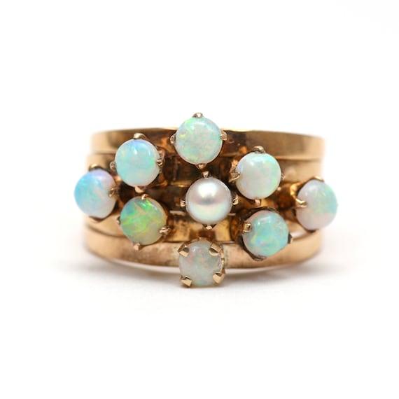 14k Opal Harem Ring