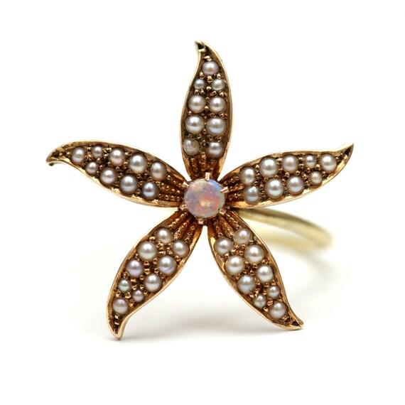 14k Victorian Flower Power Ring