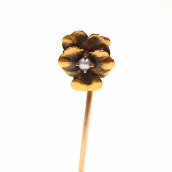 CUSTOMIZE ME*** 14k Victorian Pansy Stick Pin