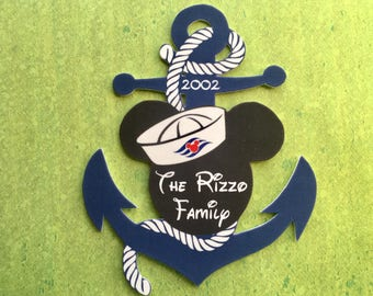 Disney Cruise Door Magnet - Mickey Anchor Magnet - Mickey Head Anchor - Anchor Family Magnet - Anchor Cruise Door Magnet
