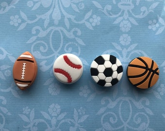 Decorate Runners Gift for Girls Football Shoelace Charms Football Charm 8mm Slide Charm Football Gift Teens Shoe Jewelry Sport Charm