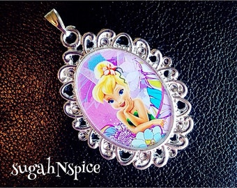 Tinkerbell Necklace Pendant Cabochon for Chunky Bubblegum necklaces Tinkerbell pendant Disney jewelry