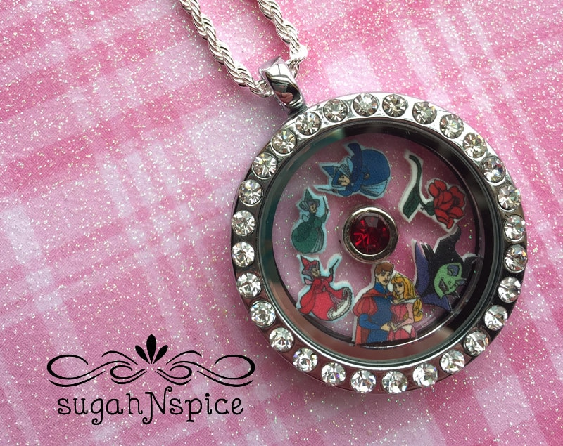 Disney Prince Phillip sleeping beauty charm necklace pendant handmade jewellery silver plated chain for adults