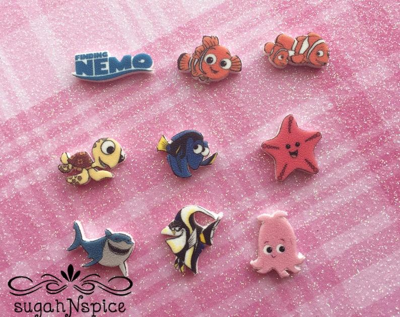 Nemo Locket Pearl Charm Disney/'s Finding Nemo Floating Charm Finding Nemo Memory Charm Squirt Charm Finding Nemo Dory Charm