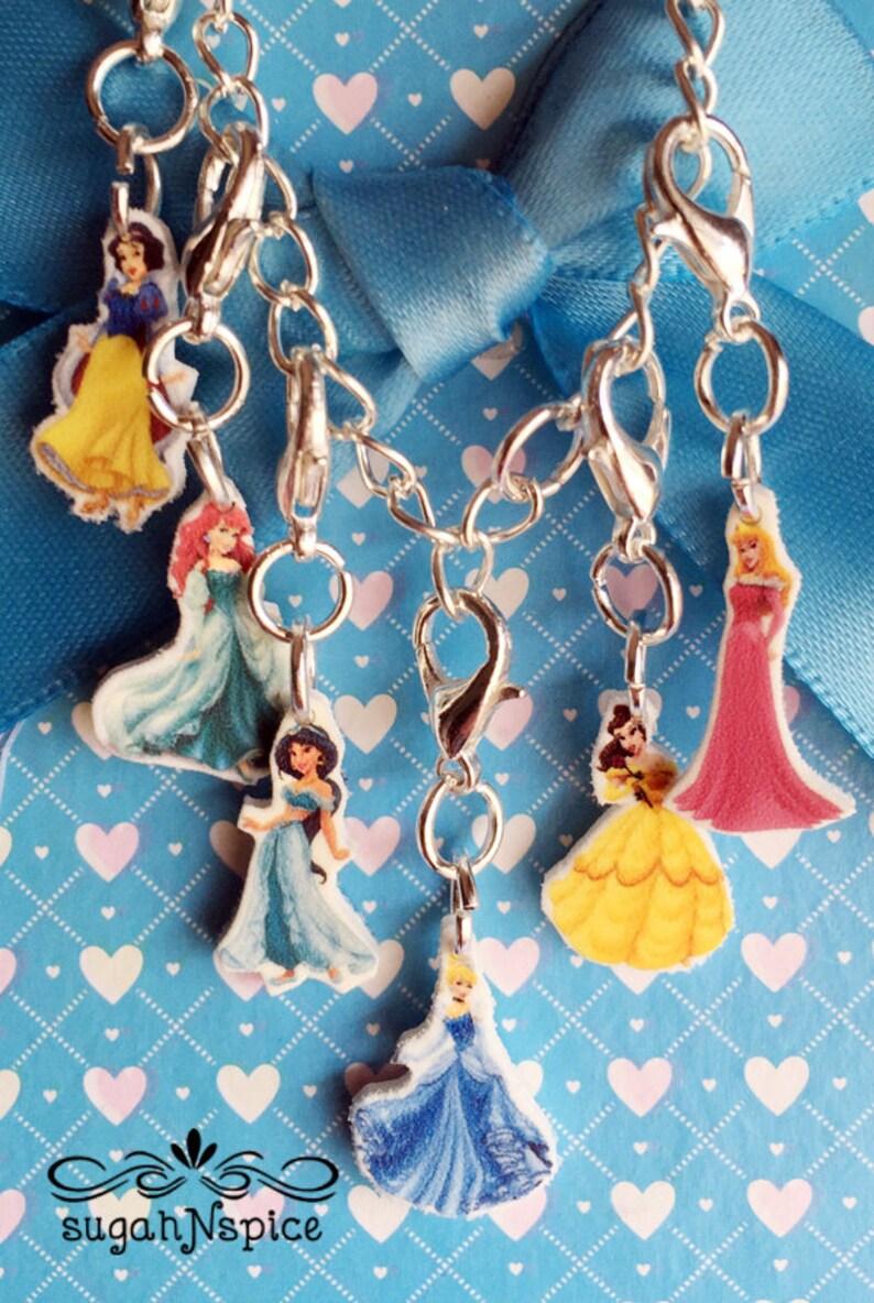 c0a8d5d07 Disney Princess Charm Bracelet Charms Ariel Charm Bracelet | Etsy