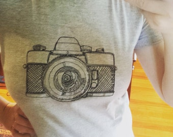 Embroidered Camera | womens clothing |womens apparel |photographer |photographer gift |camera lover