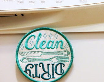 Clean Dish Dirty Dish (Magnet) / Patch