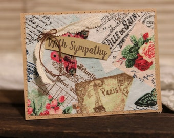 Homemade Card - Thinking of you / sympathy