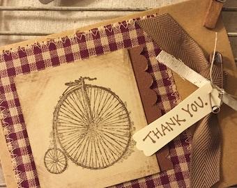 Homemade Thank you Card