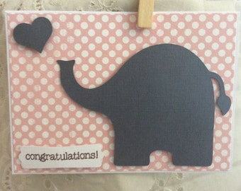 Homemade Baby Shower Card * clearance