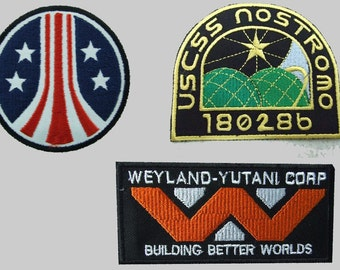 Lot of 2 Brand New Alien//Aliens//Aliens3 USSC Nostromo Crew Patches