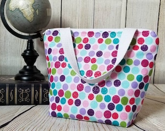 Kids Lunch Tote/Girls Lunch Bag/Glitter Lunch Bag/School Lunch Bag/Reusable Lunch Bag