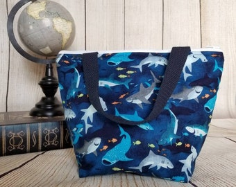Shark Lunch Tote/Kids Lunch Tote/Insulated Kids Lunch