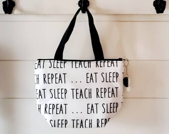 Teacher Lunch Tote/ Lunch Bag/School Lunch Bag