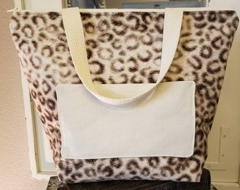 LIMITED STOCK/Insulated Lunch Tote/Lunch Bag/School Lunch Bag/Work Lunch Tote/Animal Print Lunch Tote