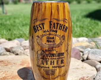 Father Woodgrain Barrel Tumbler/25 Oz Tumbler