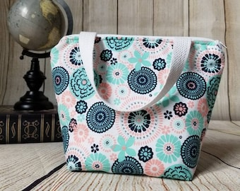 Kids Lunch Tote/Girls Lunch Bag/Kids Lunch Bag/School Lunch Bag