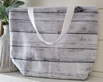 Insulated Lunch Tote/Lunch Bag/Shiplap Lunch Tote/Lunch Box