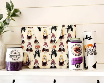 Hocus Pocus Inspired Lunch Set/Halloween Lunch Tote/Halloween Tumbler/Witches Lunch Set