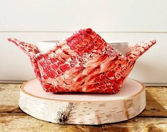 Coral Bowl Cozy/Summer Bowl Cozy/Floral Bowl Cozy