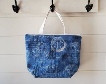 Insulated Lunch Tote/Lunch Bag/Seven Seas Lunch Bag