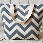 Insulated Lunch Tote/Lunch Bag/Zig Zag Lunch Tote/Adult Lunch Tote