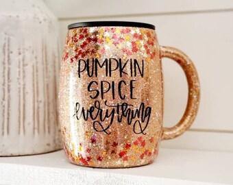 Pumpkin Spice Coffee Mug/Coffee Cup/Fall Coffee Mug/Leaf Coffee Mug/Pumpkin Spice Everything
