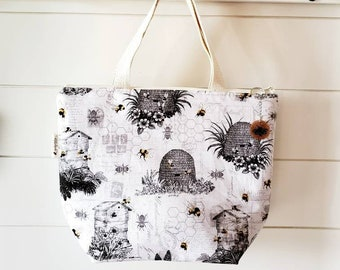 Bee Insulated Lunch Tote/Bee Lunch Bag