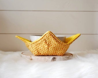 Honeycomb Bowl Cozy/Spring Bowl Cozy/Yellow Bowl Cozy