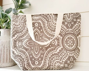 Adult Lunch Tote/Lunch Bag/Work Lunch Tote/Reusable Lunch Tote