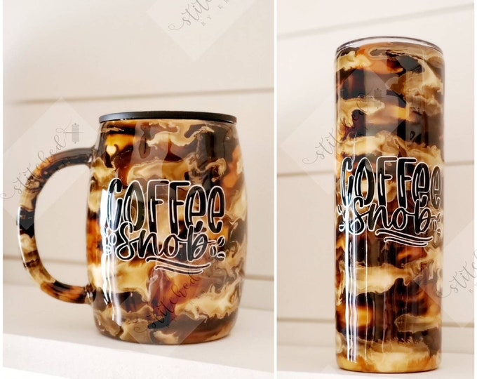 Featured listing image: Coffee Snob Tumbler/Coffee Cup/Insulated Coffee Tumblers