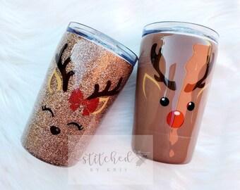 Reindeer Tumbler/Kids Christmas Tumbler