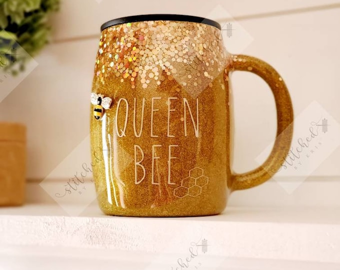 Featured listing image: Queen Bee Coffee Mug/Spring Coffee Mug