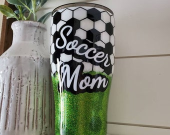 Soccer Mom Tumbler/Sports Tumbler/Soccer Mom/Personalized Soccer Tumbler